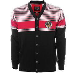 LUKE 1977 - FERGUSON CARDIGAN BLACK RED