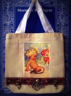 Mermaid Tote Bag by MermaidBeachgear on Etsy