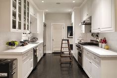 Simple Open Galley Kitchen