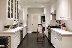 Simple Open Galley Kitchen