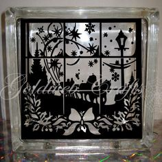 DIY Decal for Glass Blocks  Dashing Through The by GoldWebCrafts