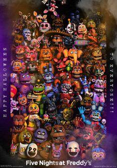 HAPPY HALLOWEEN TO EVERYBODY 2019!!! by GareBearArt1 on DeviantArt Five Nights At Freddy's, Fnaf Jumpscares, Toy Bonnie, Animatronic Fnaf, Fnaf Freddy, Halloween Balloons, Fnaf Wallpapers, Fnaf Characters, Fnaf Drawings