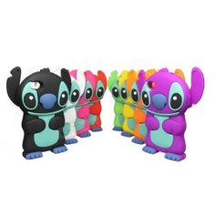 Cute Disney 3D Stitch with Movable Ears Silicone Soft Case Cover for iPhone4/4S