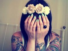 Sleeve tattoo, owl tattoo