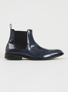 promo code 9b335 a03c0 Selected Homme Sel Manuel Chelsea Navy Leather Chelsea Boots