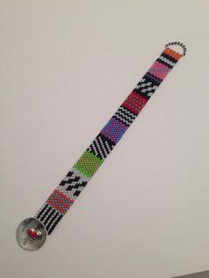 Seed bead woven bracelet. Beth Stone