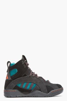 online store 2f375 891c4 ADIDAS ORIGINALS BY O.C. Black Suede Convertible OC Enforcer Rock Climbing  boots Convertible, Rock Climbing