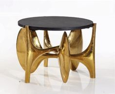 LUXURY SIDE TABLE   Philippe Hiquily - side table, 1974   www.bocadolobo.com/ #luxuryfurniture #designfurniture
