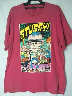 c79ff421685 Vintage Stussy Old Skool Rules Since 1980 Mens Shirt Extra Large Stussy T  Shirt Men  Size XL by MudeanDean
