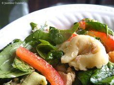 Salade de tortellinis au thon et aux épinards - Jasmine Cuisine
