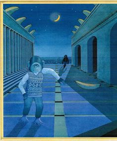 """""""Willy The Dreamer"""" By Anthony Browne (Published by Walker Books Ltd, London Part 2 Anthony Browne, Chapter Books, Old And New, Color Combos, The Dreamers, Childrens Books, Picture Books, Teaching Ideas, Illustration"""