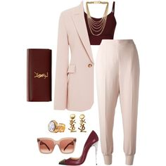 A fashion look from November 2015 featuring Wes Gordon blazers, STELLA McCARTNEY pants and Christian Louboutin pumps. Browse and shop related looks.