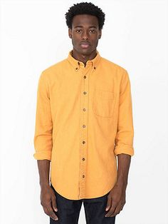 Canvas Long Sleeve Button-Up Shirt