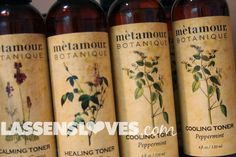 lassensloves.com, Lassen's, metamour botanique, natural skin care, skin toner
