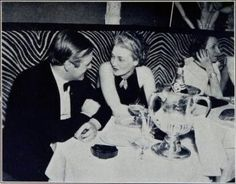 Mona von Bismarck and Randolph Churchill at El Morocco, 1950s