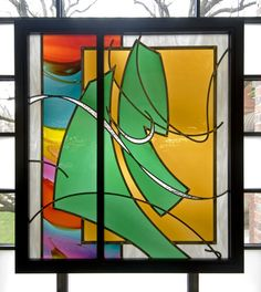 """Kessler Studios Stained Glass- """"Seasons of the Campus"""" - Peru State College"""