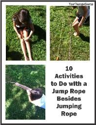 10 Activities to Do With A Jump Rope Besides Jumping Rope