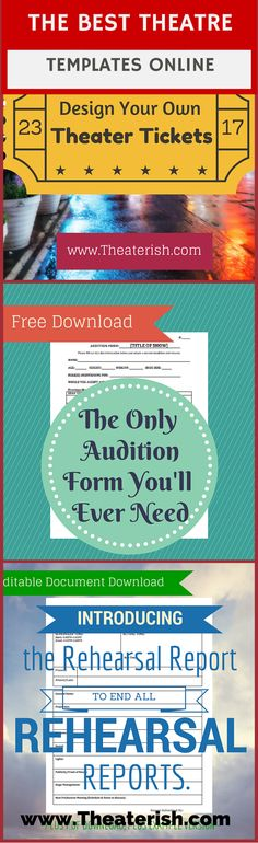 From actor's resumes, to character scene breakdowns, download at #theaterish.com #theatertemplates