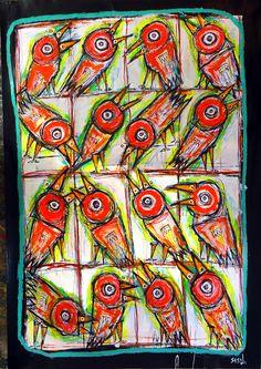 """""""Twittering"""", 2014 by matt sesow"""