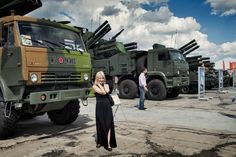The biennial Russian arms bazaar is held at an airfield outside Moscow