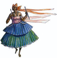"""Oxumarê - Imagens retiradas do livro """"Os Deuses Africanos no Candomblé da Bahia"""" de Caribé"""