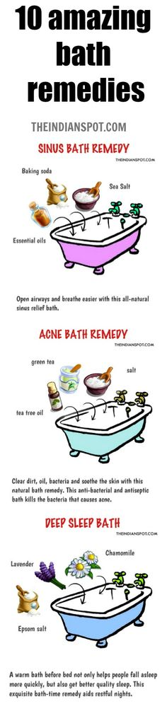 Eliminate Your Acne-Remedies - Try these 10 amazing bath remedies for acne, sinuses and more! - Free Presentation Reveals 1 Unusual Tip to Eliminate Your Acne Forever and Gain Beautiful Clear Skin In Days - Guaranteed! Natural Home Remedies, Natural Healing, Organic Skin Care, Natural Skin Care, Natural Beauty, Natural Makeup, Natural Sinus Relief, Acne Free, Acne Remedies