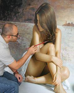 Omar Ortiz hyper-realistic painting