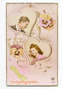 Vintage  LOVERS HEARTS years 1950 french by FascinatingHobbies, $9.50