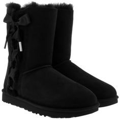 UGG Boots & Booties - W Pala Black - in black - Boots & Booties for... ($290) ❤ liked on Polyvore featuring shoes, boots, black, embellished boots, kohl shoes, black flat shoes, embellished flat shoes and ugg
