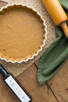 Recette de pâte à tarte à l'huile de chanvre, curry et sésame
