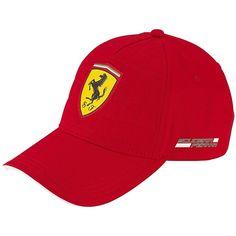 Ferrari Red Quilt Stitch Hat Cap Formula 1 Casquette 259f5f87680a