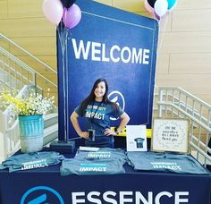 Balloons and a big, bold WELCOME will certainly get the attention of anyone that passes. We love how Essence Place in West Hartford, CT created a designated station with a banner and table cover.