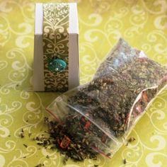 Recipes for handcrafted loose leaf teas, just in time for holiday gift giving and warming up from the cold.