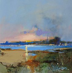 Official website of Peter Wileman PPROI RSMA FRSA, Seascape/Landscape artist. Landscape Artwork, Abstract Landscape Painting, Abstract Canvas Art, Seascape Paintings, Artist Painting, Cityscape Art, Art Folder, Painting Inspiration, Creative Art