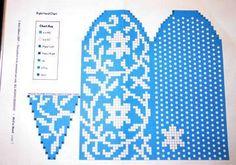 Knitting Charts, Lace Knitting, Knitting Stitches, Knitting Socks, Knitting Patterns, Crochet Mittens Free Pattern, Knit Mittens, Mitten Gloves, Fair Isle Chart