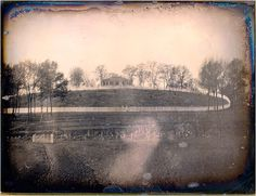 Earliest photo of New York.    Bloomingdale Road (an extension of Broadway) on the UWS in 1848
