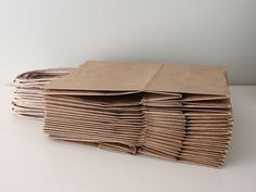 Kraft Paper Bags by LifeofaCaptainsWife on Etsy, $8.40