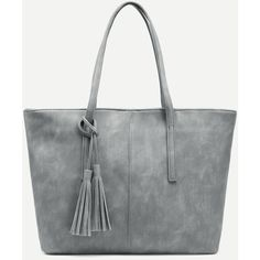 SheIn offers Grey Distressed Tassel Trim Tote Bag & more to fit your fashionable needs. Grey Tote Bags, Tote Purse, Tote Handbags, Purses And Handbags, Grey Handbags, Vintage Purses, Vintage Handbags, Tote Bags Online, Grey Purses