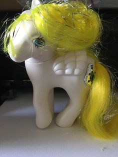 Vintage Hasbro MY Little Pony G1 Princess Tiffany White Yellow Tinsel German | eBay
