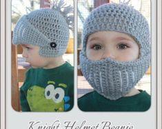 Baby Hats Knitting, Knitted Hats, Crochet Beanie Pattern, Crochet Patterns, Crochet Crafts, Crochet Projects, Crochet Baby Blanket Beginner, Crochet Winter Hats, Knights Helmet