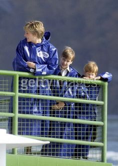 October 26, 1991: Princess Diana at Niagara Falls. Princess Diana, Prince William & Prince Harry on board the 'Maid of Mist' during the Canadian Tour.