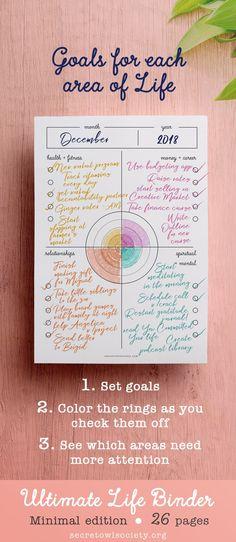 Ultimate Life Binder Printable Planner Budget Habit by Read Planner Budget, Goals Planner, Travel Planner, Year Planner, Life Planner, Life Binder, Bullet Journal Année, Daily Docket, Filofax