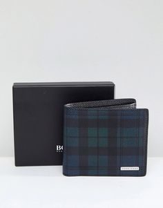 BOSS Signature Coin Wallet in Navy Blackwatch