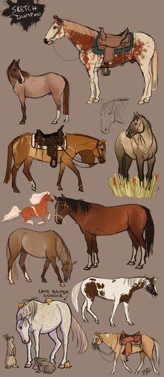 Neat way to draw horses Cute Horses, Pretty Horses, Horse Love, Beautiful Horses, Horse Drawings, Cute Drawings, Animal Drawings, Animal Sketches, Art Sketches