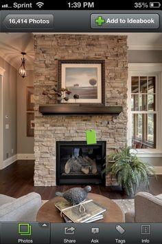 Fireplace stone option 1
