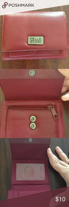 Pelle studio wallet! Cute small burgundy leather wallet. Super cute and small Bags Wallets