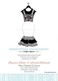 Sithandiwe Xhosa Traditional Wedding Invitation