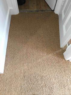 Nordic Living Room, Bed In Living Room, Living Room Carpet, Living Room Decor, Seagrass Carpet, Carpet Stairs, Carpet Flooring, Herringbone Wall, Woodland Nursery Decor