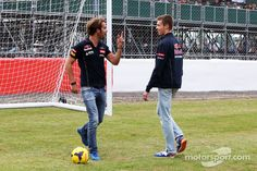 """Vergne:"""" You may be beating me on the track, but nobody beats Jean-Eric Vergne on the Soccer Field!"""""""