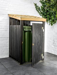 Wooden Chelwood Modular Bin Store | Garden Trading Diy Garage Storage, Locker Storage, Storage Ideas, Bin Store Garden, Hedgehog House, Wood Store, Door Design, Backyard Landscaping